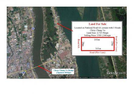 land Residential for sale in Chroy Changvar ID 12383 1