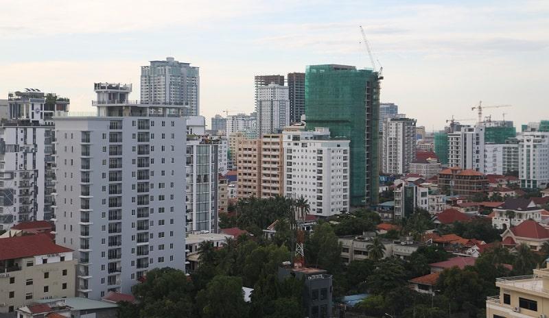 condos are shown in Phnom Penh cambodia