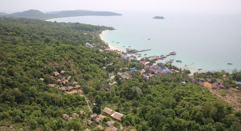 View of Koh Rong island Cambodia