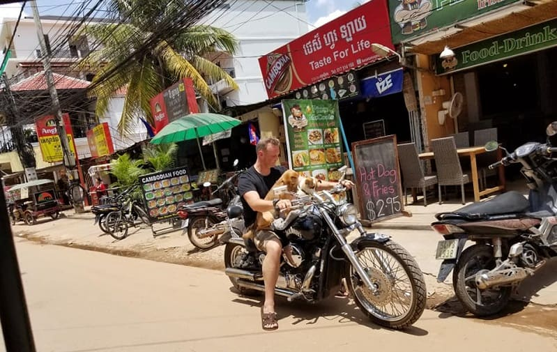 Man on motorbike in Siem Reap