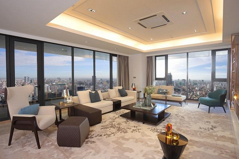 An interior view of Sky Villa